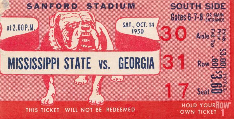 1950 Mississippi State vs. Georgia  Print
