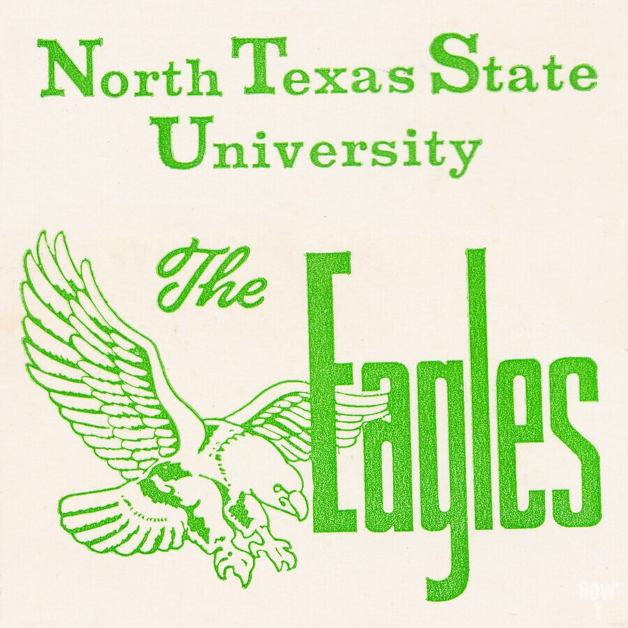 Vintage North Texas State University Eagles Art  Print