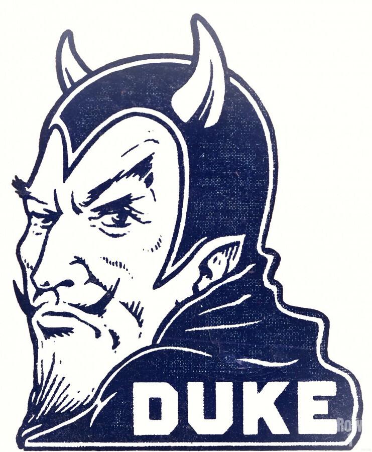 1950s duke university blue devil college art  Print
