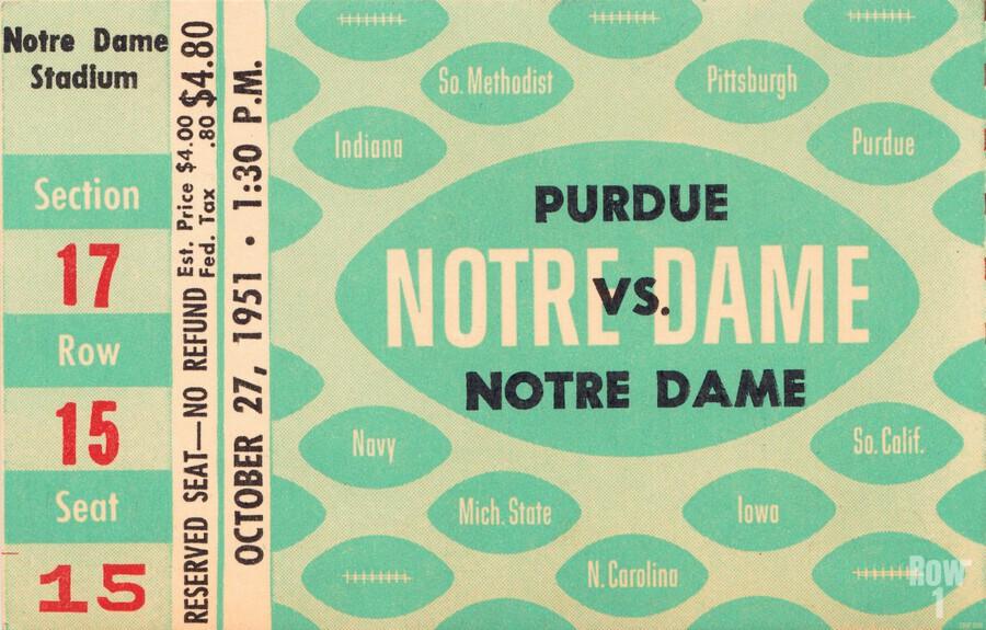 1951 Notre Dame vs. Purdue  Print
