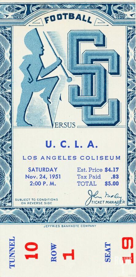 1951 USC vs. UCLA  Print