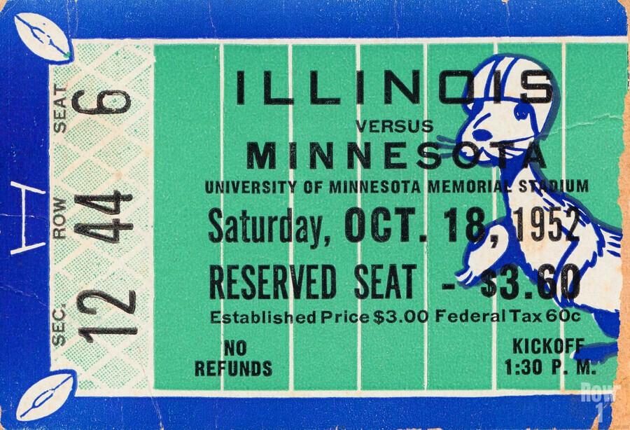 1952 Minnesota vs. Illinois  Print