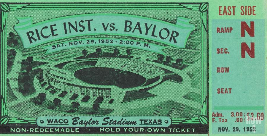 1952 Rice Owls vs. Baylor Bears  Print