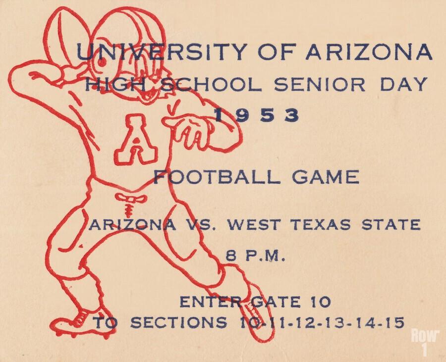 1953 Arizona Wildcats vs. West Texas State   Print