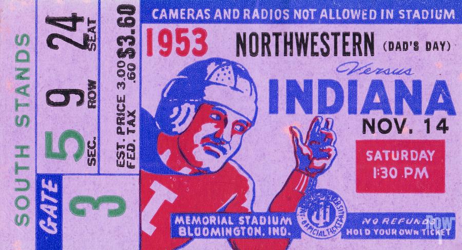 1953 Indiana Hoosiers vs. Northwestern Wildcats  Print