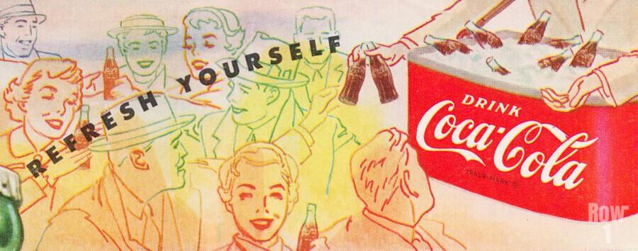 1954 Vintage Coke Ad  Print