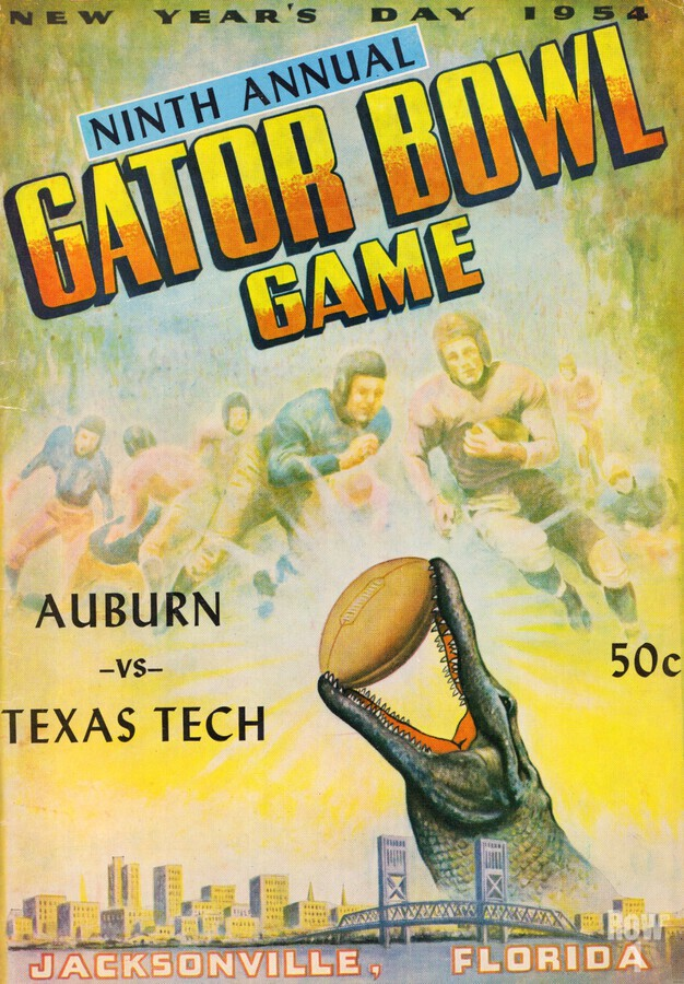1954 Gator Bowl Auburn vs. Texas Tech  Print