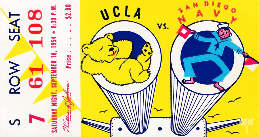 1954 UCLA vs. San Diego Navy  Print