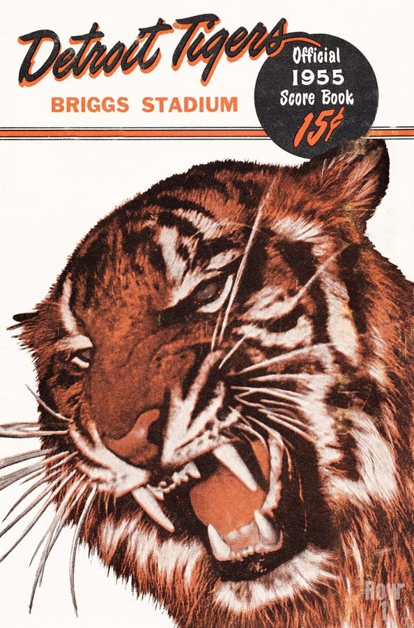 1955 Detroit Tigers Score Book Canvas  Print