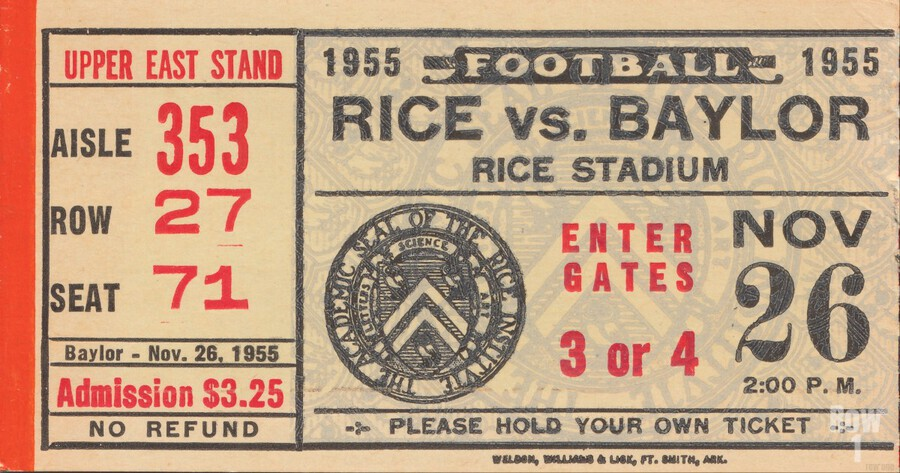 1955 Rice vs. Baylor  Print