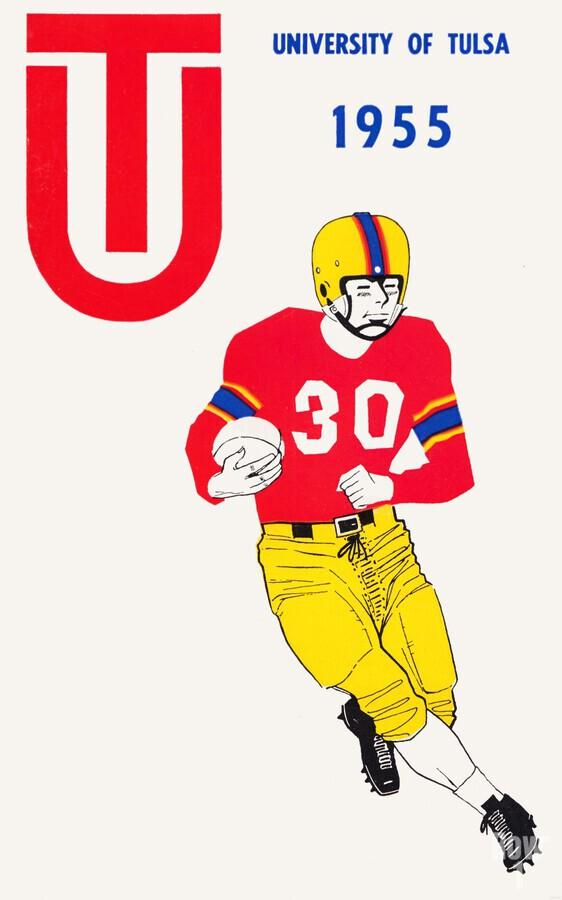 1955 university of tulsa football poster  Print