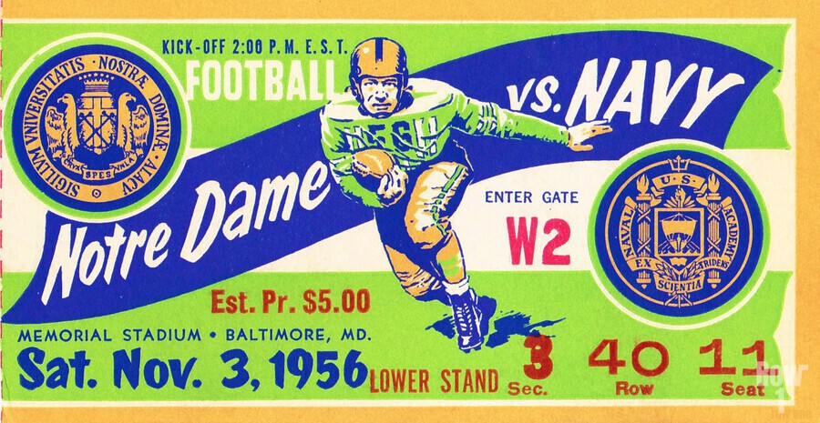 1956_College_Football_Notre Dame vs. Navy_Memorial Stadium_Baltimore_Row One Brand  Print