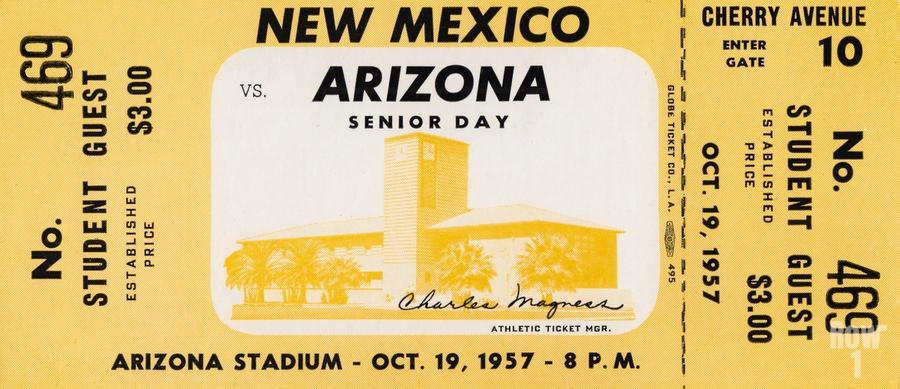 1957 Arizona Wildcats vs. New Mexico Lobos  Print