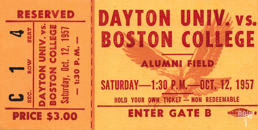 1957 Dayton Flyers vs. Boston College Eagles  Print