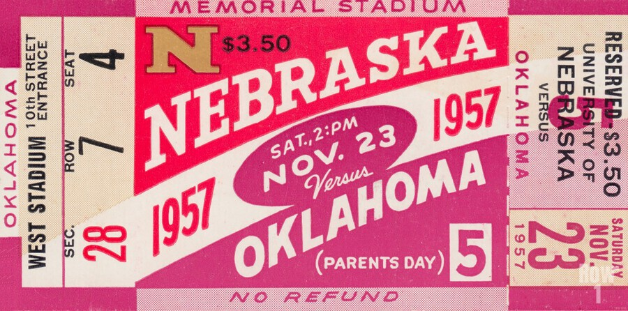 1957_College_Football_Nebraska vs. Oklahoma_Historic Memorial Stadium Lincoln_College Wall Art  Print