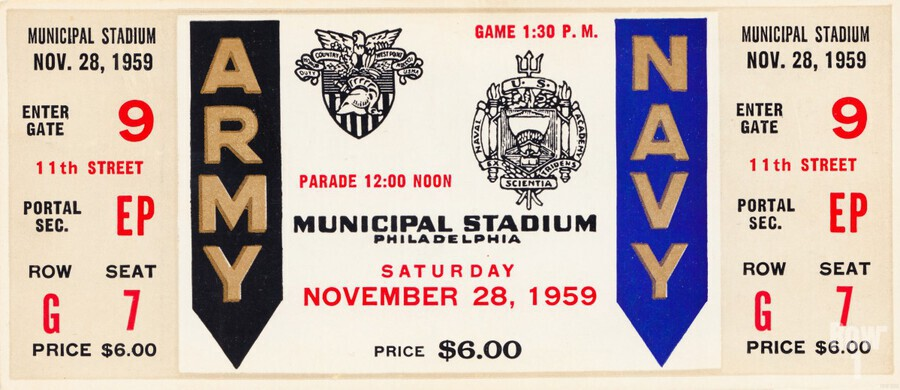 1959 Army Navy Game Ticket  Print