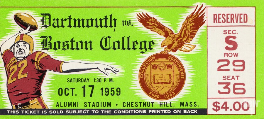 1959 Boston College vs. Dartmouth  Print