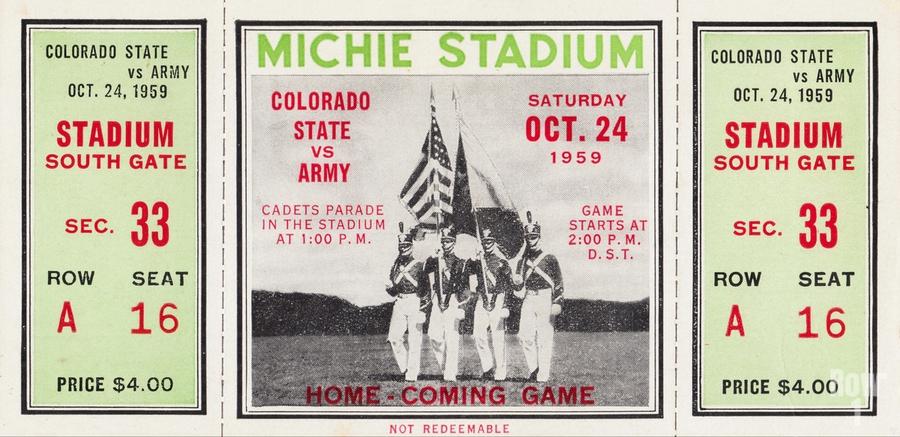 1959 Colorado State Rams vs. Army Cadets  Print