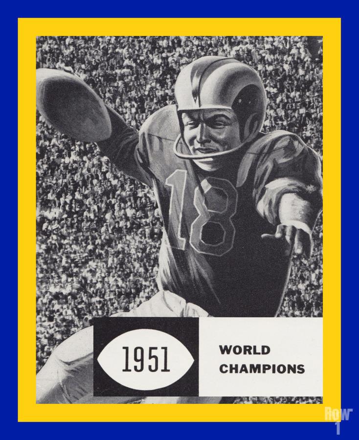LA Rams 1951 World Champions Art  Print
