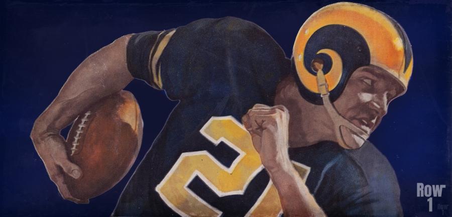 1959 LA Rams Vintage Football Art  Print