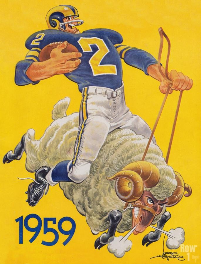 1959 LA Rams Karl Hubenthal Art  Print