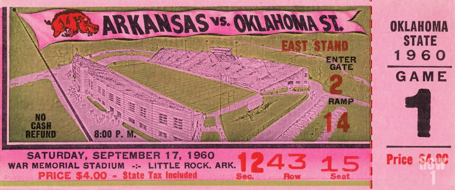 1960 Arkansas Razorbacks vs. Oklahoma State Cowboys  Print