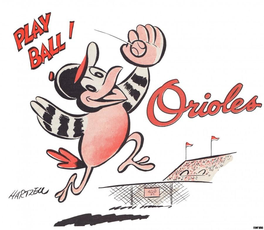 1960 Baltimore Orioles Art  Print