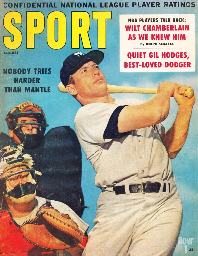 1960 Mickey Mantle Sport Cover Art  Print