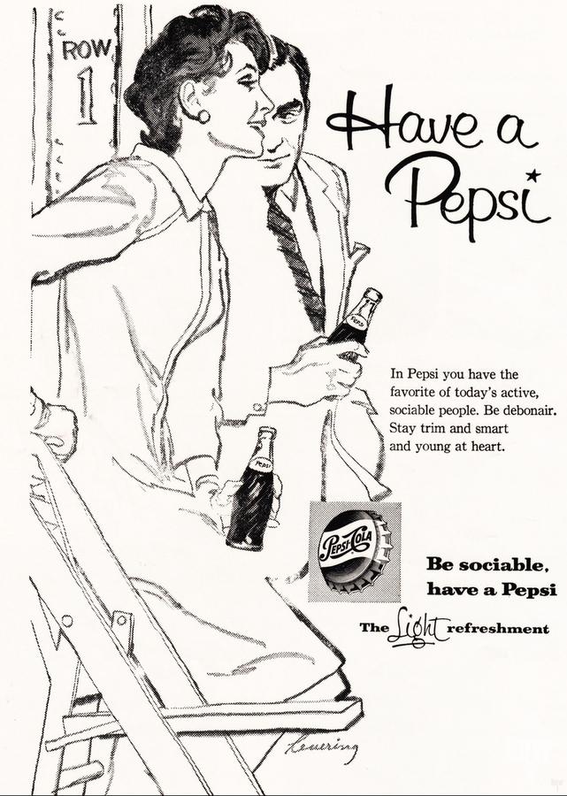 1960 Pepsi Advertisement Poster  Print