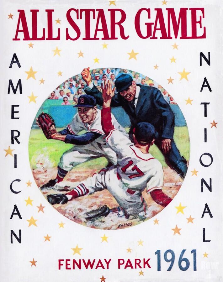 1961 Boston All-Star Game Baseball Program Art  Print