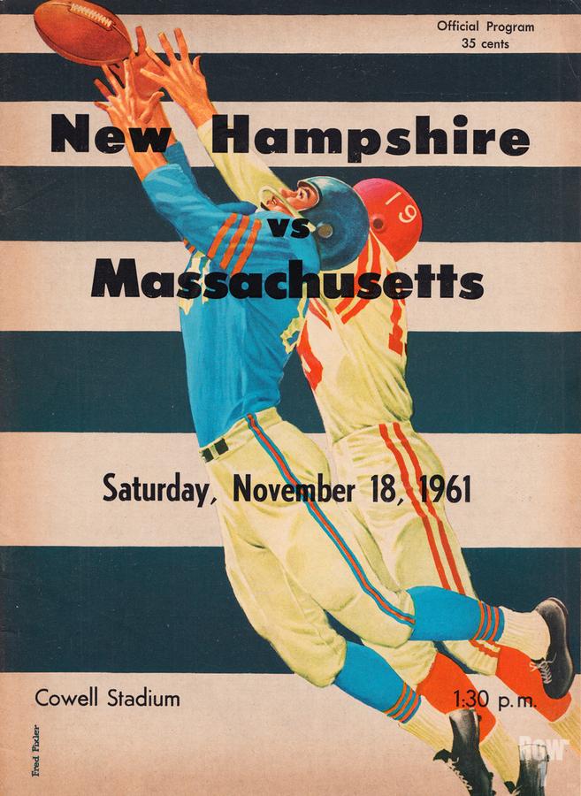 1961 Massachusetts vs. New Hampshire Wildcats  Print