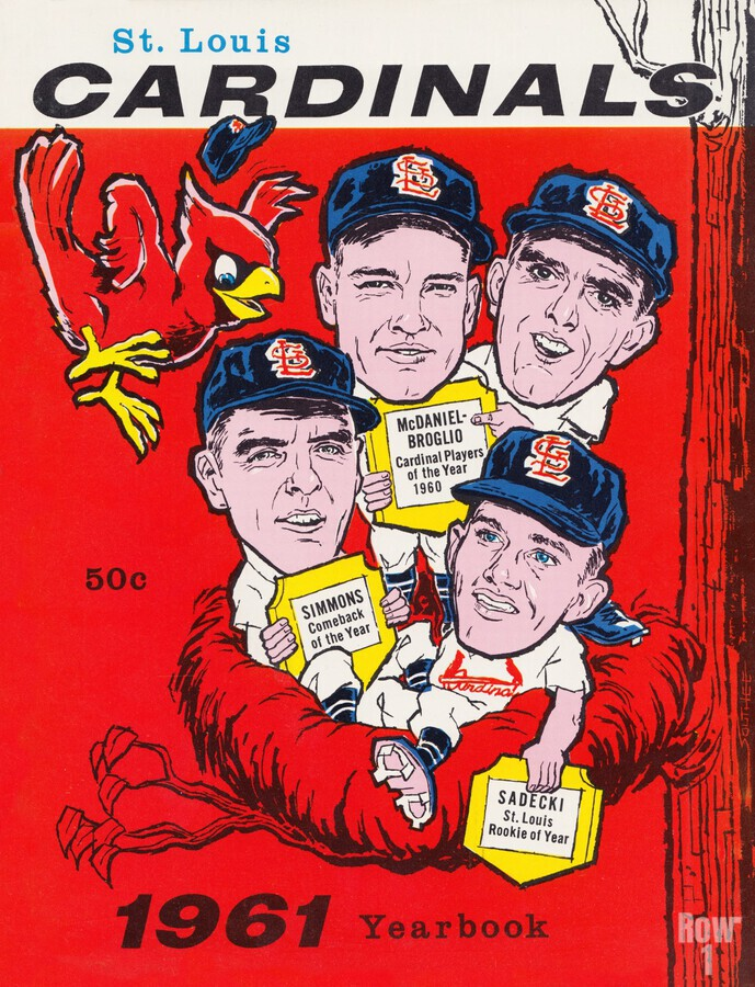 1961 St. Louis Cardinals Yearbook Poster  Print