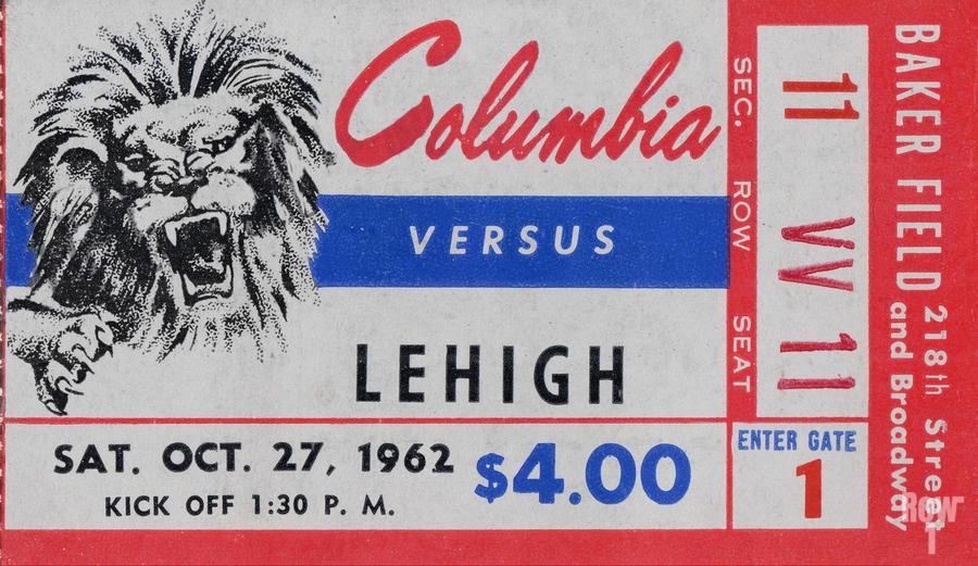 1962 Columbia Lions vs. Lehigh Engineers  Print