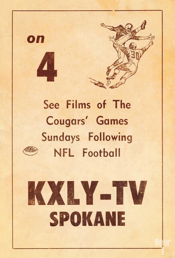 1962 kxly tv spokane football ad  Print