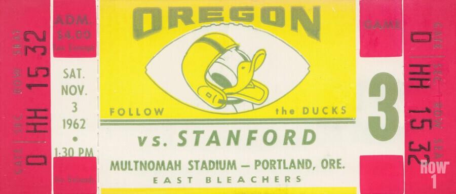 1962 Oregon vs. Stanford  Print