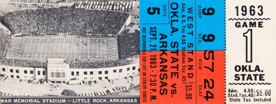 1963 Arkansas Razorbacks vs. Oklahoma State Cowboys  Print