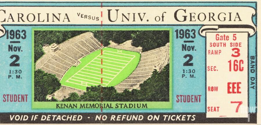 1963 North Carolina vs. Georgia  Print