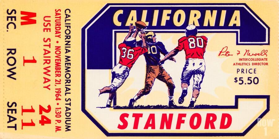 1964 California vs. Stanford  Print