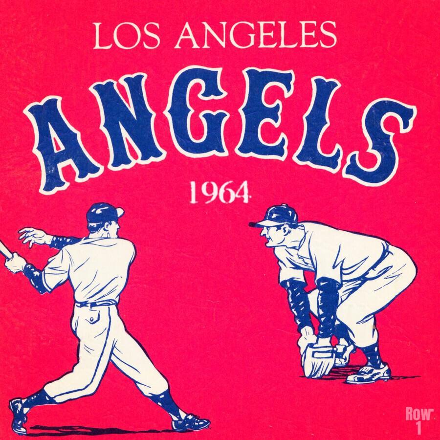 1964 Los Angeles Angels Baseball Art  Print
