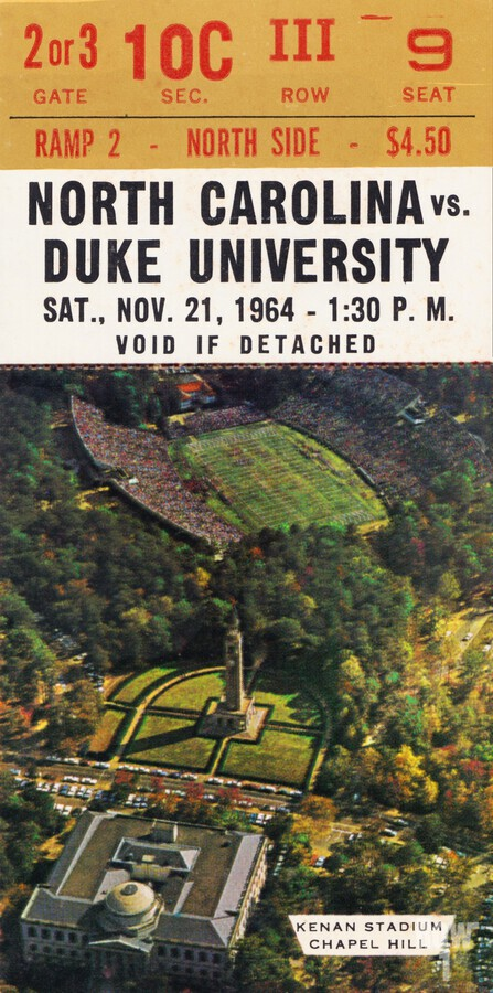 1964 North Carolina vs. Duke  Print