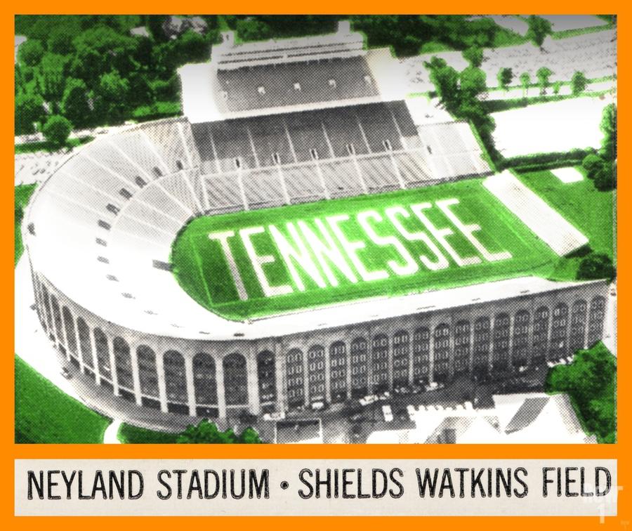 1964 Tennessee Vols Football Ticket Stub Remix  Print