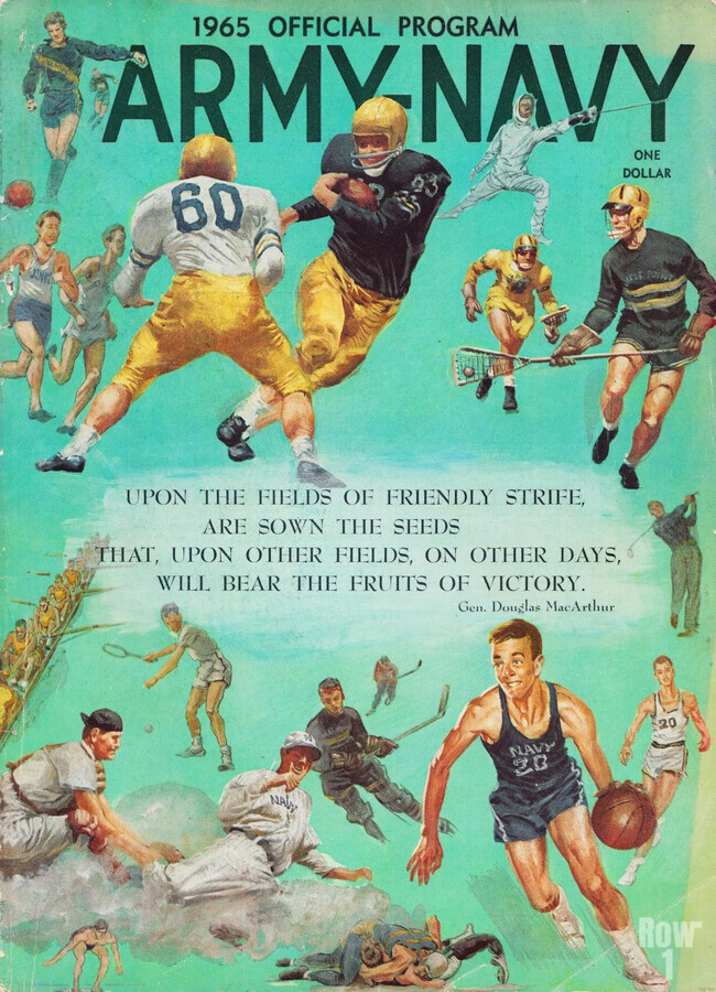 1965 Army vs. Navy Football Program  Print