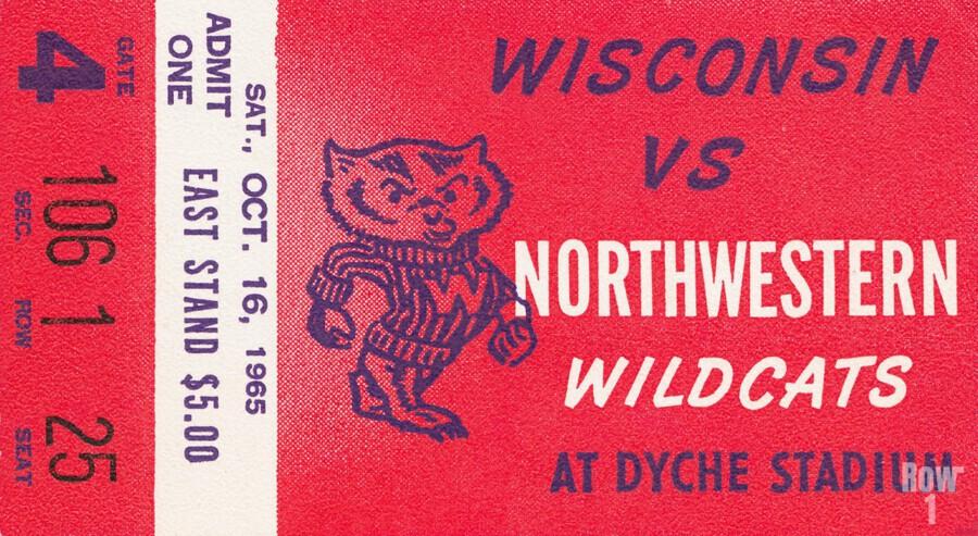 1965 Northwestern vs. Wisconsin  Print