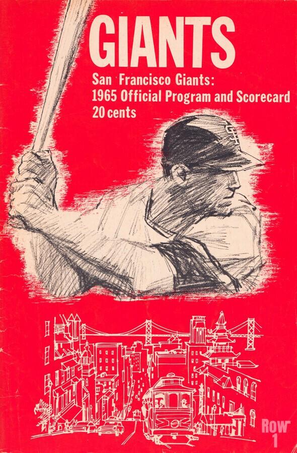 1965 san francisco giants program baseball scorecard poster  Print