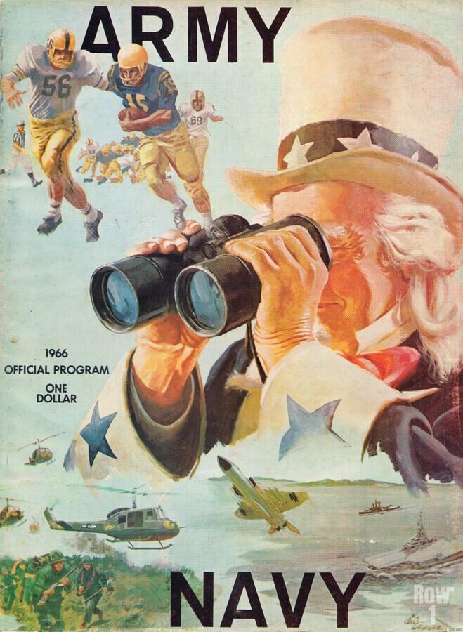 1966 Army vs. Navy Football Program  Print