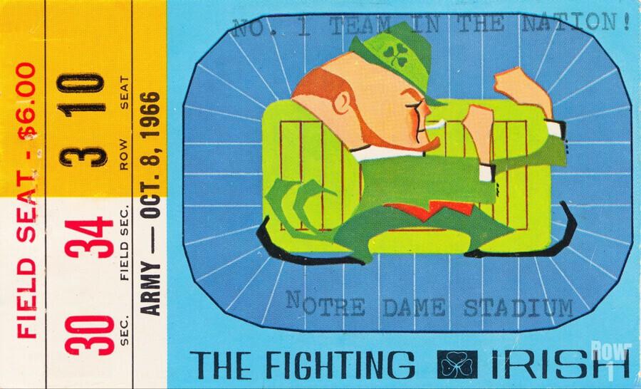 1966 Army vs. Notre Dame  Print