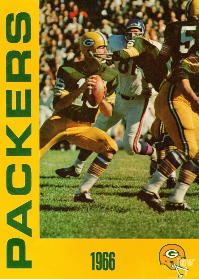 1966 Green Bay Packers Football Art  Print