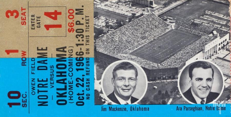 1966 Oklahoma vs. Notre Dame  Print