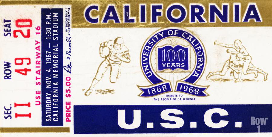 1967 California Bears vs. USC Trojans  Print