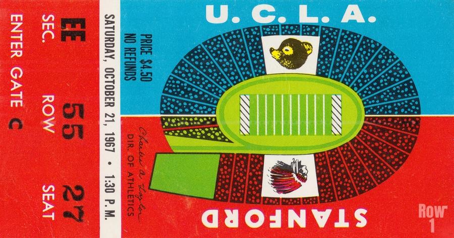 1967 UCLA Bruins vs. Stanford Indians  Print